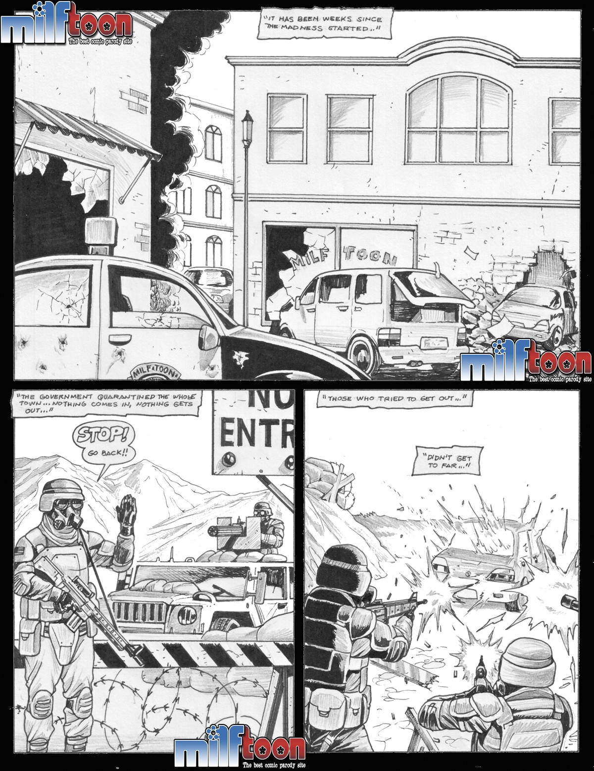 fuck during a zombie apocalypse - other, porn comics online at world