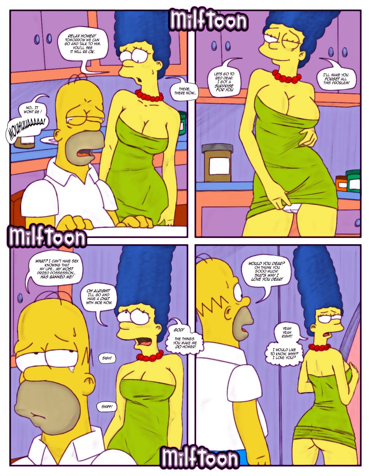 Sucking barts dick marge