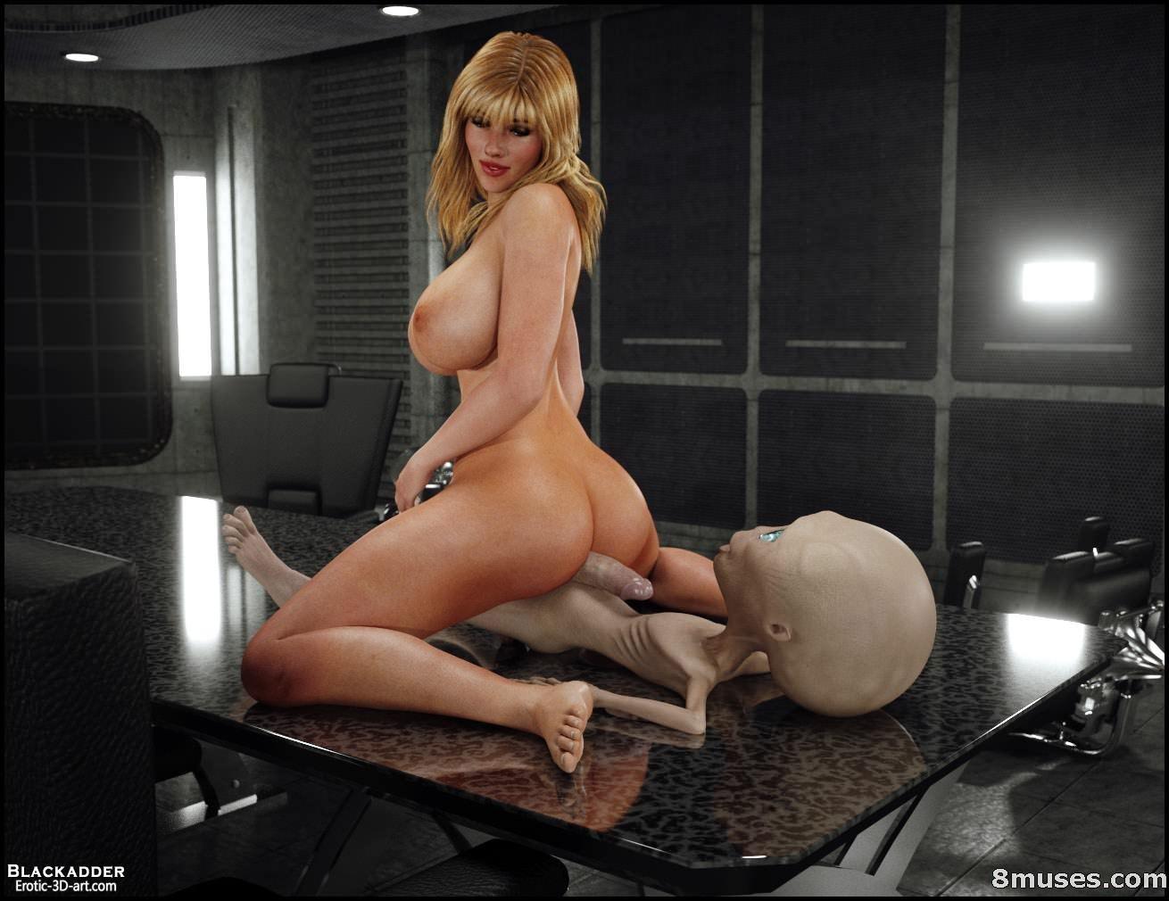 3D Monster Pon skyla's first sex with alien - 3d, monsters, porn comics