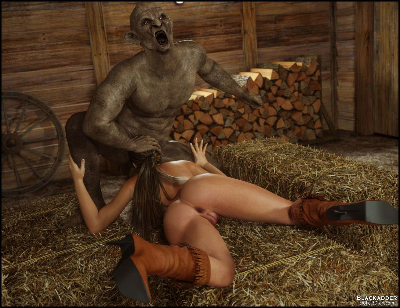 3D Monster Pon gisela and demon - 3d, monsters, porn comics online at world