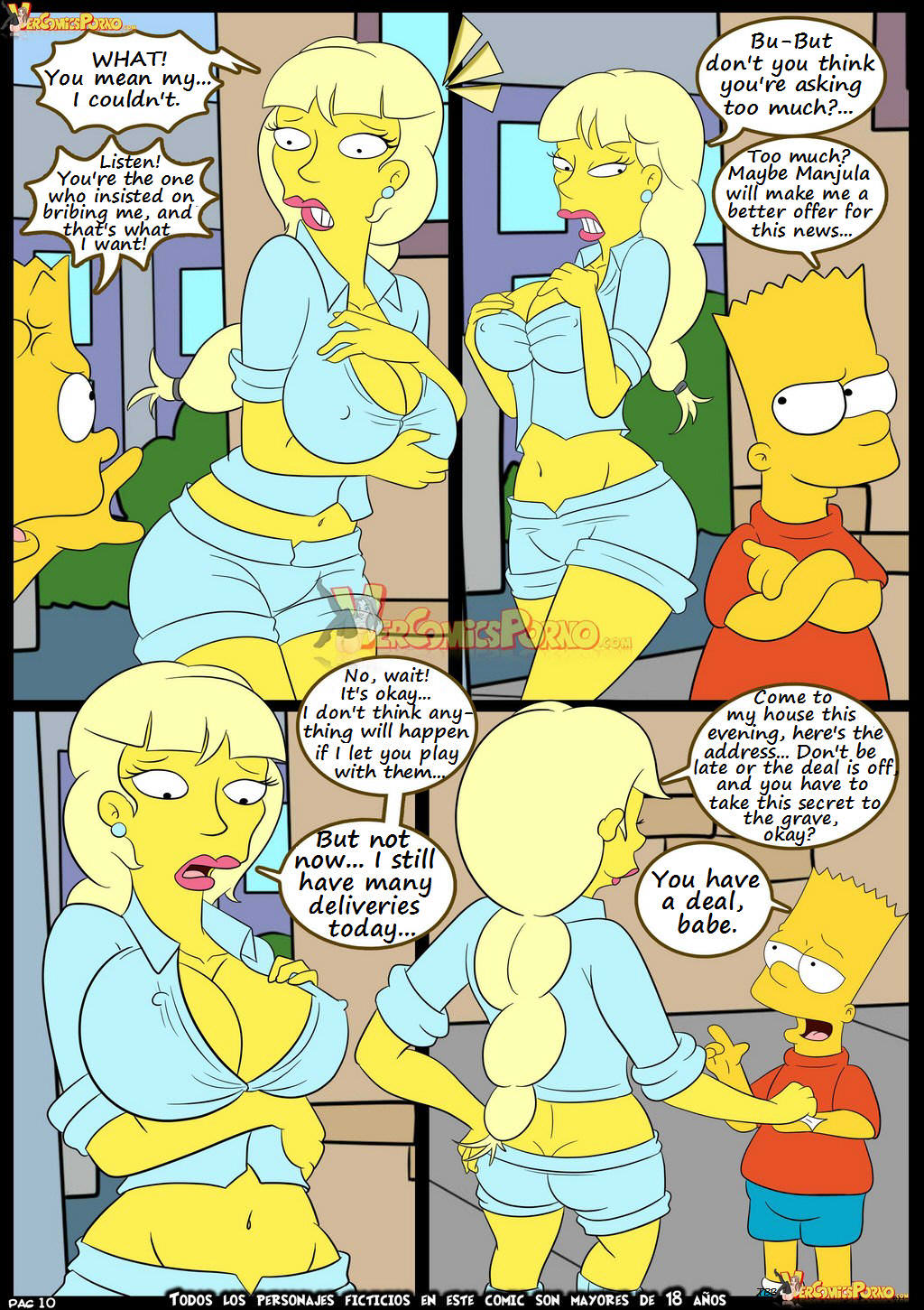 Simpsons porn comix all does