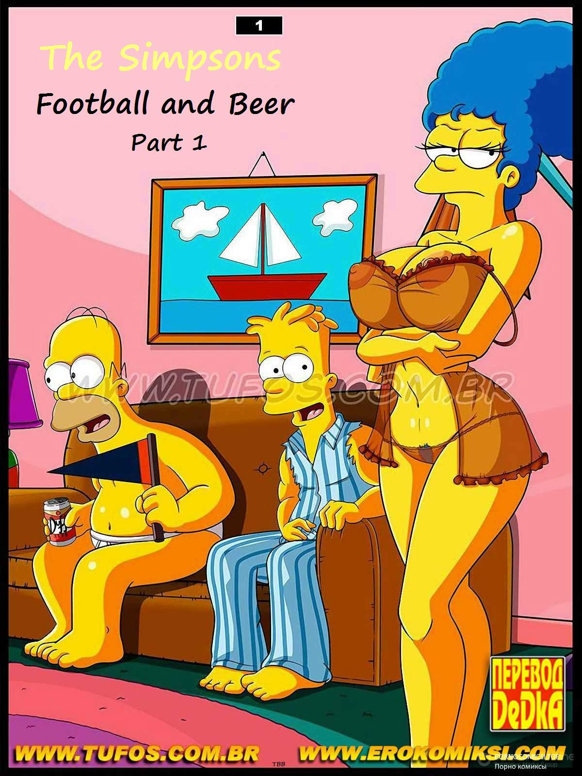 Free Disney Cartoon Porn Comics football and beer - simpsons online at world-hentai